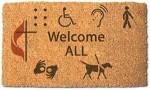 DAS welcome mat